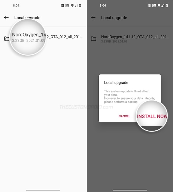 Confirm to downgrade OnePlus Nord from OxygenOS 11 to OxygenOS 10