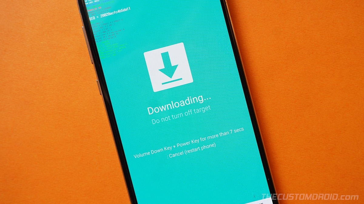 Boot the Galaxy S20 into Download Mode