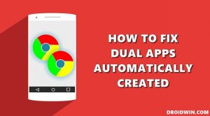 how to fix dual apps automatically created