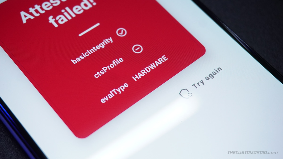 Check if SafetyNet's hardware attestation is active on device