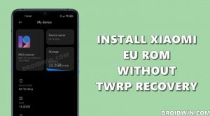 how to install xiaomi eu rom without twrp